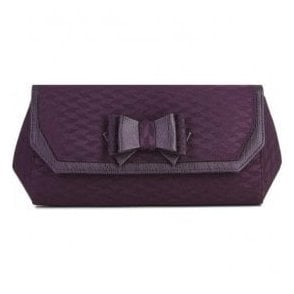 Womens Brighton Burgundy Clutch Handbag 50089