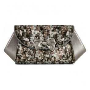 Womens Palma Pewter Clutch Handbag 50091