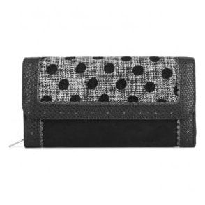 Womens Ontario Black Spots Purse 50108