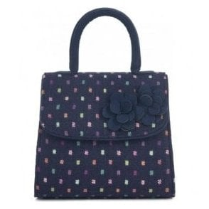 Womens Kingston Navy Multi Structured Handbag 50096