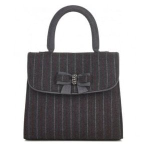 Womens Saigon Pinstripe Structured Handbag 50098