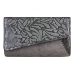 Womens Memphis Pewter Clutch Handbag 50100