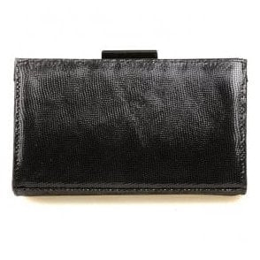 Womens Zinnia Black Reptile Clutch Bag 2522160