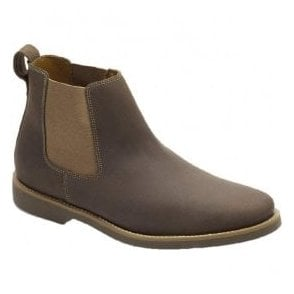 Mens Cardoso Mustang Tobacco Leather Chelsea Boots