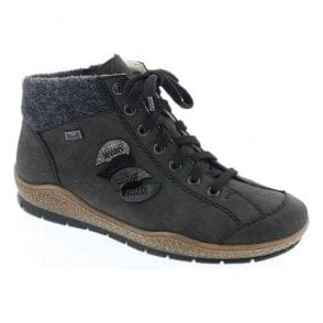 Napoli Anthracite Grey Waterproof Lace Up Ankle Boots L6904-45