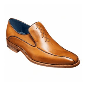 Mens Farrell Cedar Calf Leather Slip On Shoes