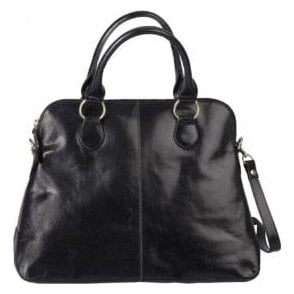 Womens Alessa Black Leather Handbag