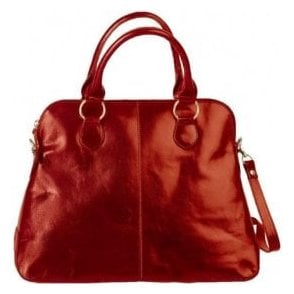 Womens Alessa Red Leather Handbag