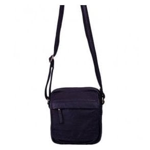 Womens Richmond Navy Leather Handbag