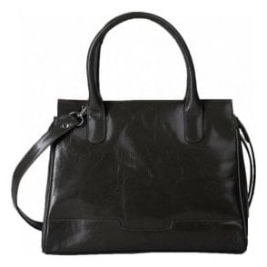 Womens Cadence Black Leather Handbag