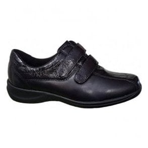 Womens Millu Black Velcro Strap Over Shoes M54302 203 001
