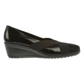 Womens Charity Black Patent Multi Leather Shoes 2379110