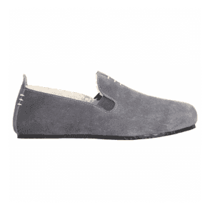 Mens Kite Falcon Grey Suede Slippers