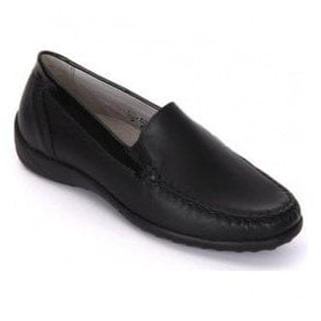 Womens Klare Black Slip On Moccasin Shoes 640004 186 001