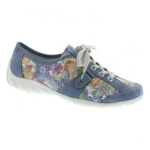 Womens Odense Multi Floral Leather Casual Lace Up Shoes R3431-12