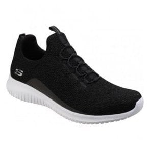 Womens Black Ultra Flex Slip-On Shoes SK12830