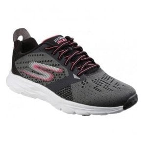 Womens Charcoal/Hot Pink Go Run Ride 6 Trainers SK14117