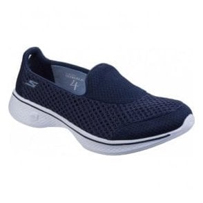 Womens Navy/White Go Walk 4 - Kindle Walking Shoes SK14145