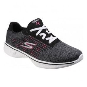 Womens Black/Hot Pink Go Walk 4 - Exceed Trainers SK14146