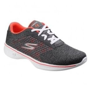 Womens Charcoal/Coral Go Walk 4 - Exceed Trainers SK14146