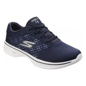 Womens Navy/White Go Walk 4 - Exceed Trainers SK14146