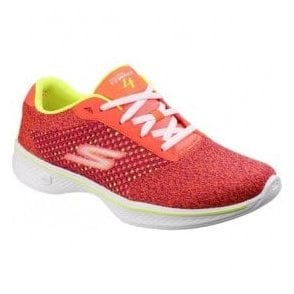 Womens Pink/Lime Go Walk 4 - Exceed Trainers SK14146