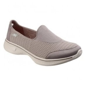 Womens Taupe Go Walk 4 - Pursuit Walking Shoes SK14148