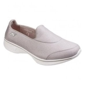 Womens Taupe Go Walk 4 Inspire Walking Shoes SK14166