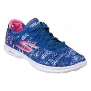 Womens Blue/Pink Go Step Walking Shoes SK14200