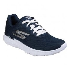 Womens Navy/White Go Run 400 - Action Lace Up Sports Shoes