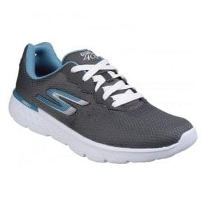 Womens Charcoal Blue Go Run 400 - Action Lace Up Sports Shoes