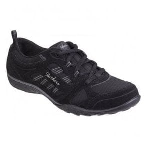 Womens Black Active Breathe Easy - Good Luck Lace Up Trainers SK22544