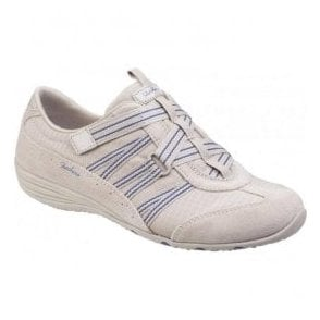 Womens Stone/Navy Unity Existent Strap Front Trainers SK23074