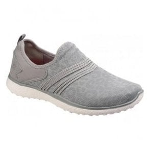 Womens Grey Microburst Under Wraps Slip On Walking Shoes SK23322