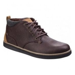 Mens Red/Brown Helmer Lace-Up Ankle Boots SK65273