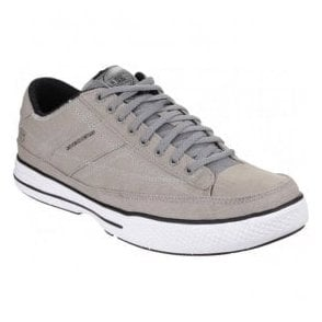Mens Grey Arcade Chat Memory Lace Up Trainers SK15014