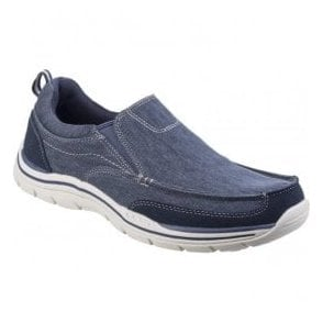 Mens Navy Expected - Tomen Slip-On Shoes SK64928
