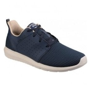 Mens Navy Foreflex Lace Up Trainers SK52390