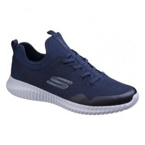 Mens Navy Elite Flex Lasker Lace Up Trainers SK52643