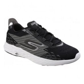 Mens Black/White Go Run 5 Lace Up Trainers SK54118