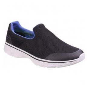 Mens Black/Blue Go Walk 4 - Incredible Slip On Walking Shoes SK54152