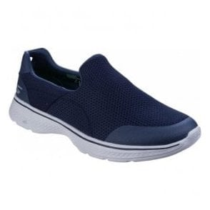Mens Navy/Grey Go Walk 4 - Incredible Slip On Walking Shoes SK54152