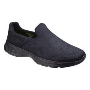 Mens Black Go Walk 4 Remarkable Slip On Walking Shoes SK54154