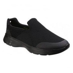 Mens Black Go Walk 4 - Expert Slip On Walking Shoes SK54155