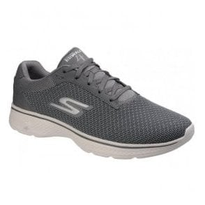 Mens Charcoal Go Walk 4 - Noble Slip On Walking Shoes SK54156