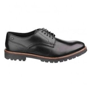 Mens Barrage Black Lace up Derby Shoes