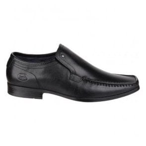 Mens Carnoustie Black Slip-On Leather Shoes