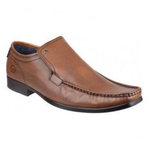 Mens Carnoustie Tan Slip-On Leather Shoes