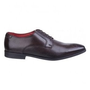 Mens Charles Waxy Brown Leather Lace-Up Shoes