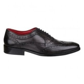 Mens Surrey Grey Lace up Brogue Shoes